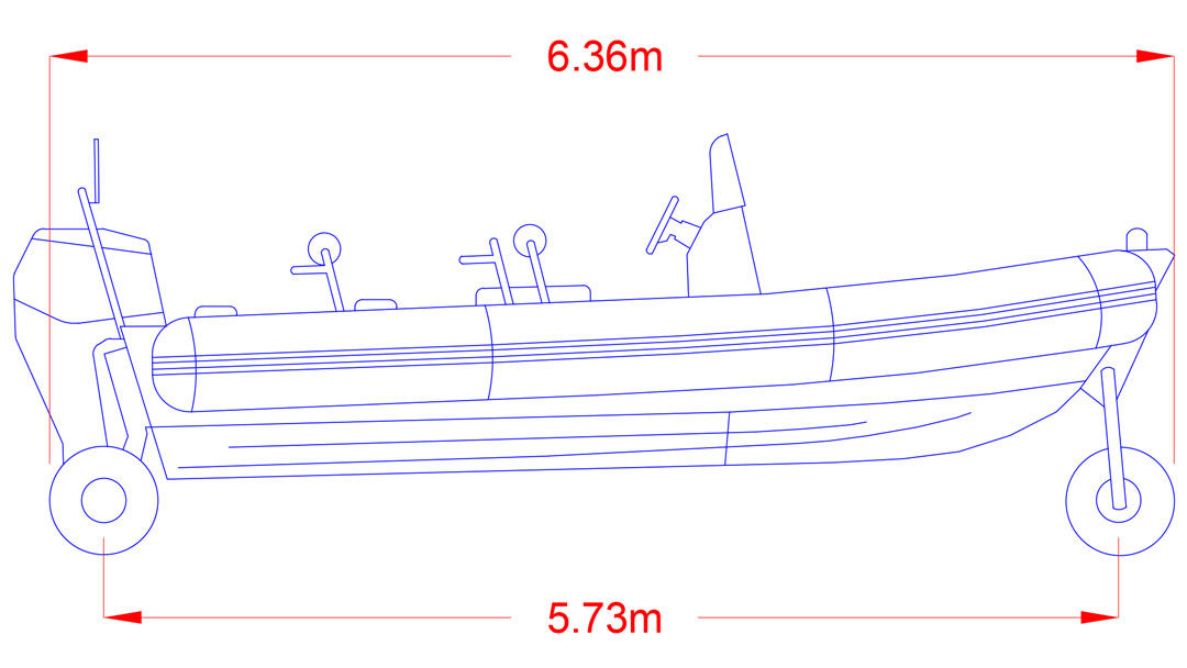 Bespoke Vehicle Design of an Amphibious RIB for swept path analysis by jghighwaydesign.uk