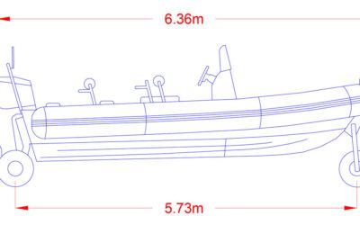 Swept Path Analysis for an Amphibious RIB!